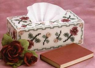 Cross Stitch Kit Gift square tissue box