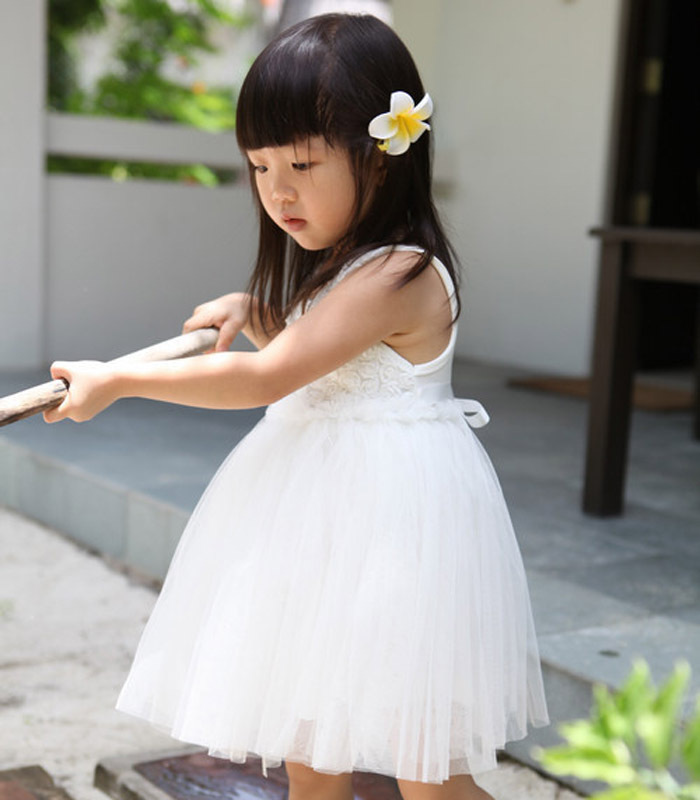 2014 New Girl skirt no sleeve summer colthing babay dress princess  bubble skirt Taobao Agents