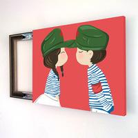 客厅墙画电表箱配电箱装饰画推拉电闸箱遮挡餐厅无框壁画结婚礼物
