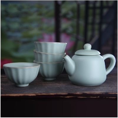 ChengYi specials zhengde five head your porcelain tea set Kung fu tea set Ceramic teapot teacup parcel post