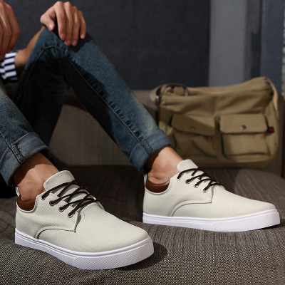 Spring Men's casual shoes breathable canvas shoes male Korean men shoes to help low tide shoes shoes increased within the male's shoes