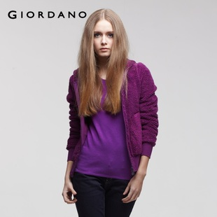 2012 new Giordano jacket ladies ' thickened soft coral fleece and guard clothing 01371907