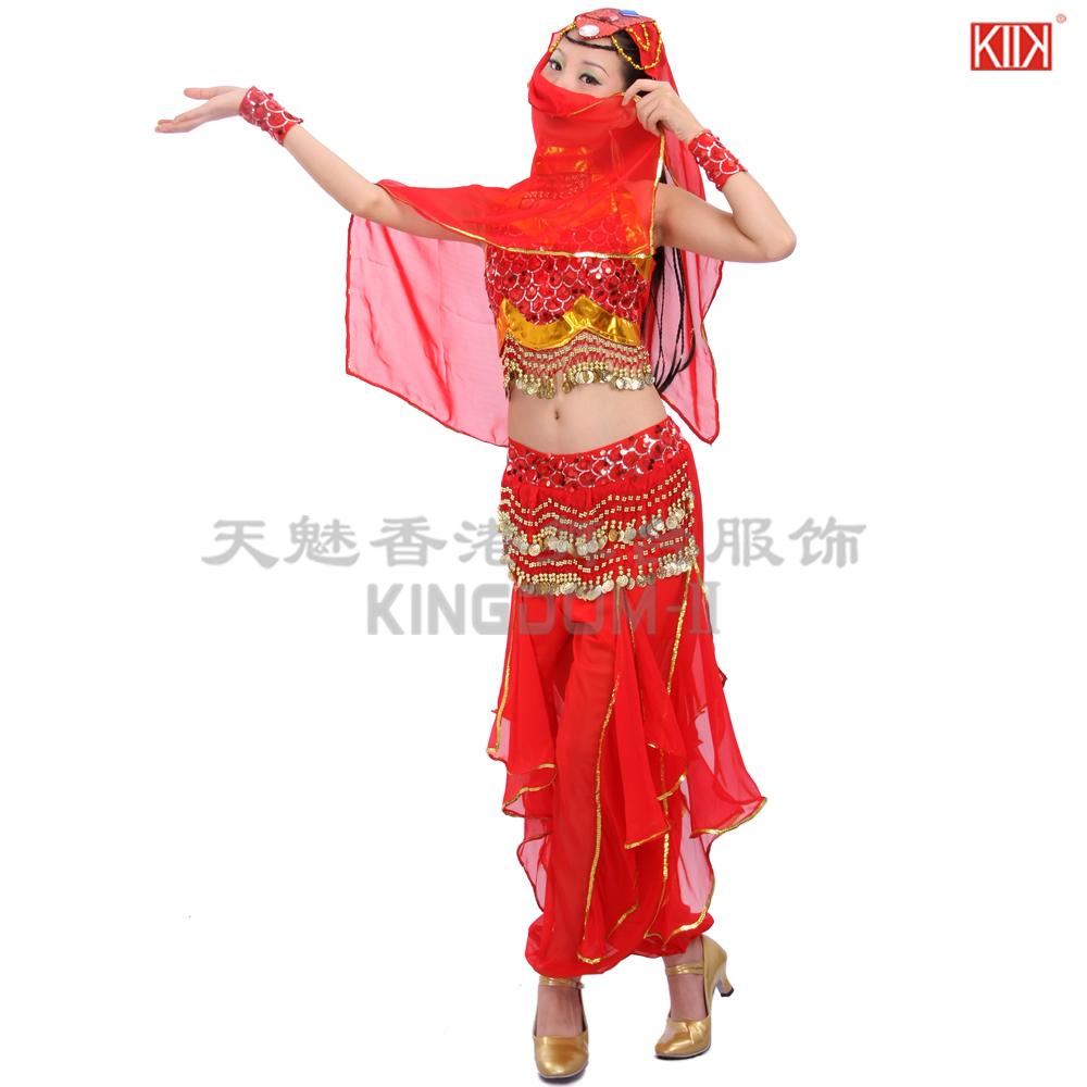 肚皮舞 套装 新款新疆舞蹈演出服装秧歌舞蹈演出服装民族舞蹈服装