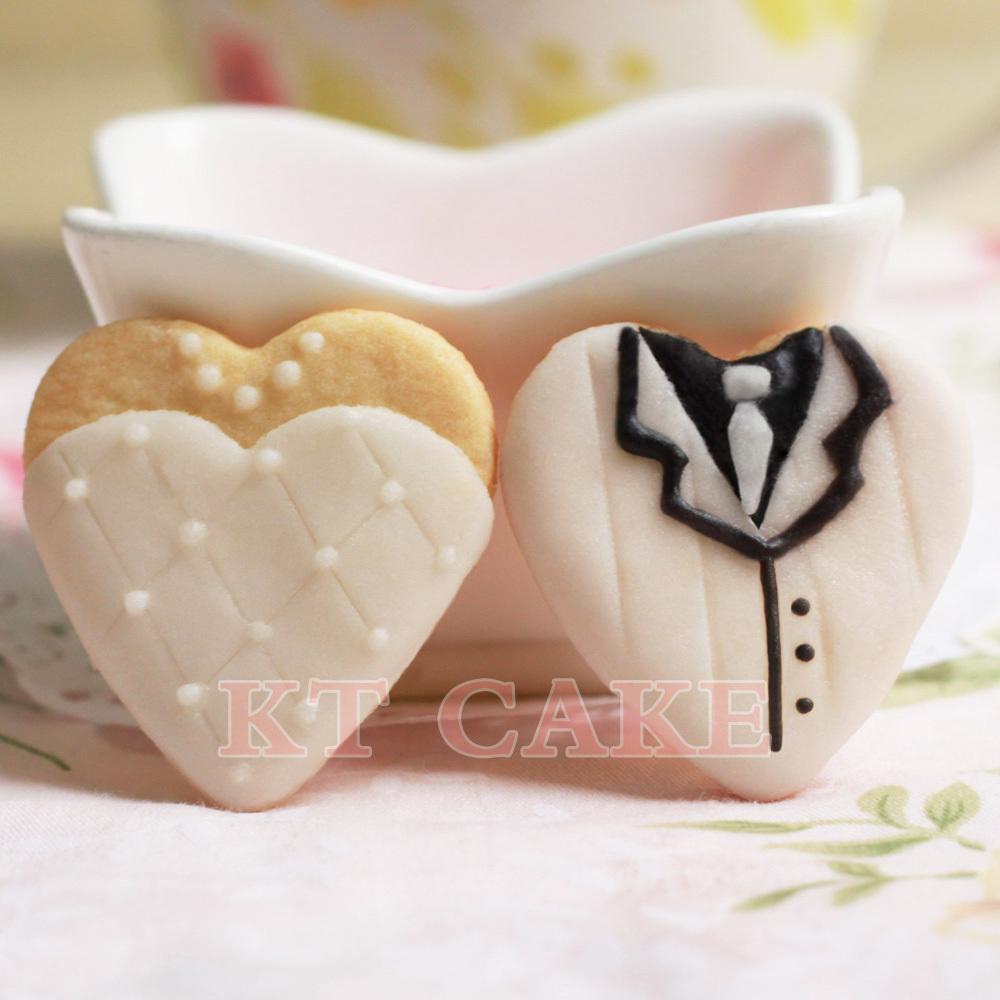 【手工曲奇】创意翻糖饼干~婚礼喜饼/饼干15元2块~优雅版礼服