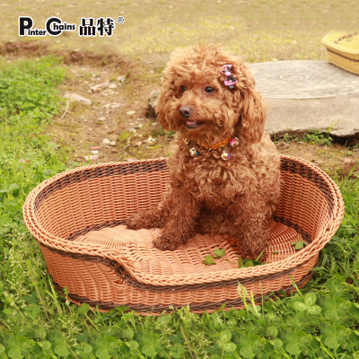 Teddy kennel kennel cat litter pet golden retriever kennel large dog kennel nest rattan washable free shipping