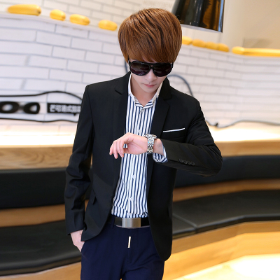2014 autumn and winter influx of men's suits men's clothes leisure suit jacket Korean Slim small suit male tide England