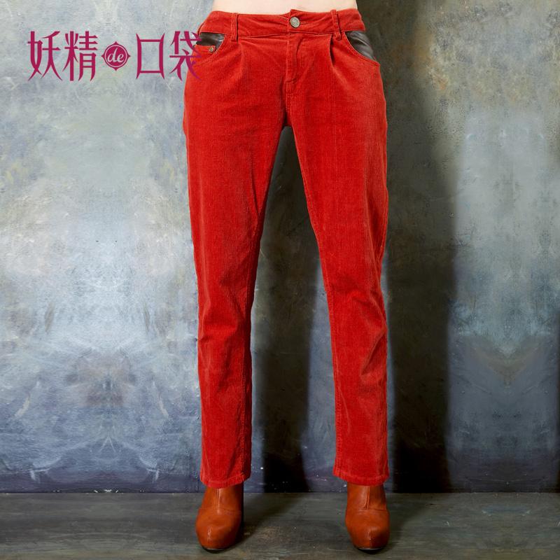 Женские брюки Elfsack 1228092 ELF SACK Длинные брюки Узкие брюки-карандаши Городской стиль Утеплённая модель Коллаж