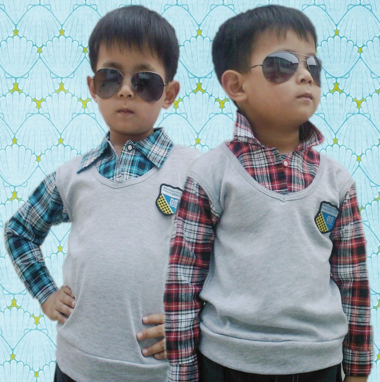 Рубашка детская 2011 новый стиль ребенка плед рубашка с длинным рукавом от двухсекционный мальчиков сейчас 19,9 юаней