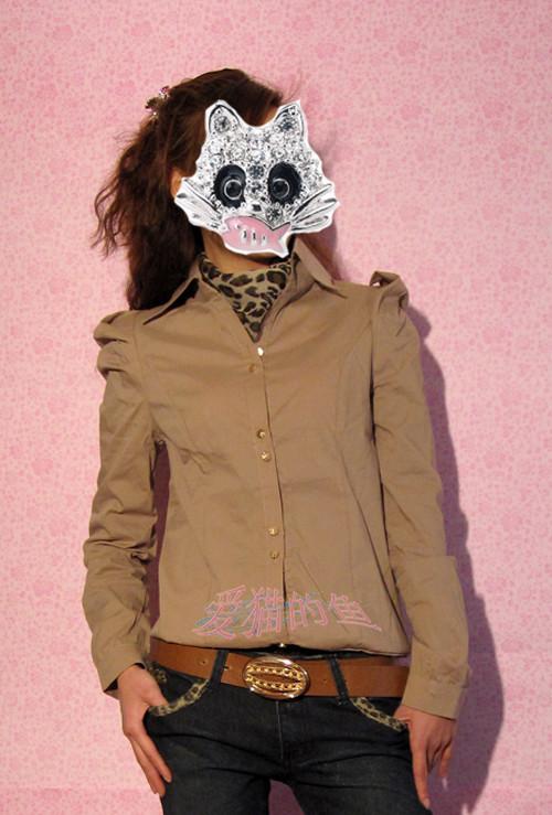 женская рубашка Remains the same 201101263 Городской стиль Длинный рукав Однотонный цвет