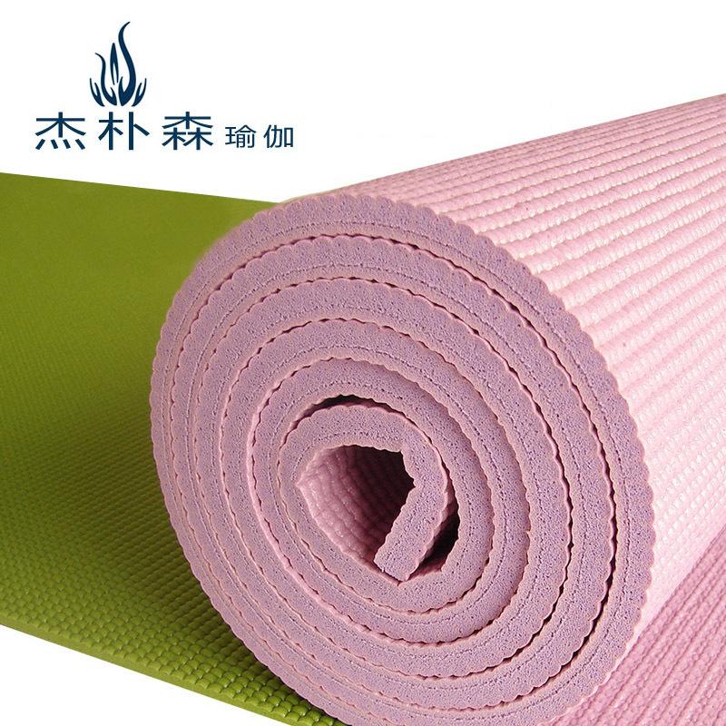 杰朴森加厚8mm10mm瑜伽垫加长瑜珈垫子瑜伽毯健身垫特价包邮正品
