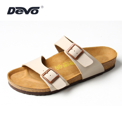 Devo cork shoes comfortable shoes minimalist Twill Birkenstock sandals and slippers summer influx of casual men's slippers, sandals and a half 2709