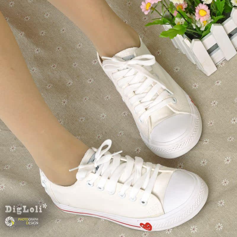 两双包邮 2012新品后系带优质布面帆布鞋 情侣款女鞋 平跟单鞋