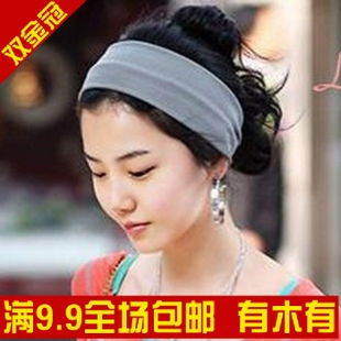 High quality Korea pop candy-color wide-thin hair band/hair accessories cashmere wide-band random colors