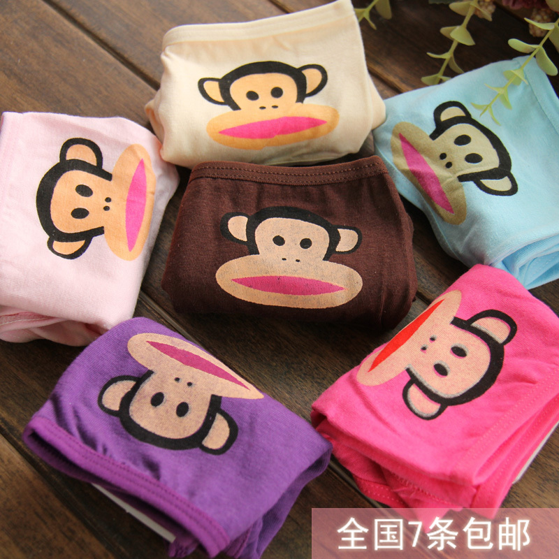 Foreign trade cotton mouth monkey underwear briefs sexy ladies panties low waist sexy cartoon