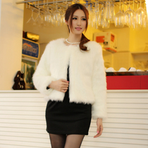 OAB2012 new style artificial grass fox fur coat short plush coat cashmere imitation fur [A240]