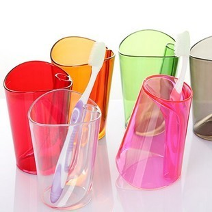 38, Zhejiang and Shanghai full package fast and creative two-scale wash Cup toothbrush Cup stand up glass multi-color 120g