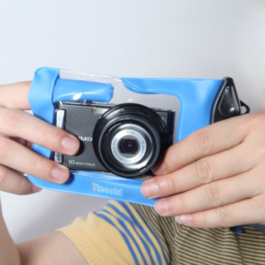 包邮 特比乐 数码相机防水袋 潜水 伸缩卡片相机防水套 指式快门