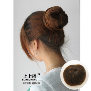 Comb wig hair-free ball-head Taoist nun head pull rope button direct contract for holiday letting Spathe