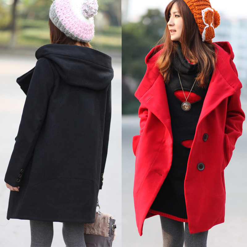 Spring into the new Barret coat ladies Lady ladies new red long Korean girl coats