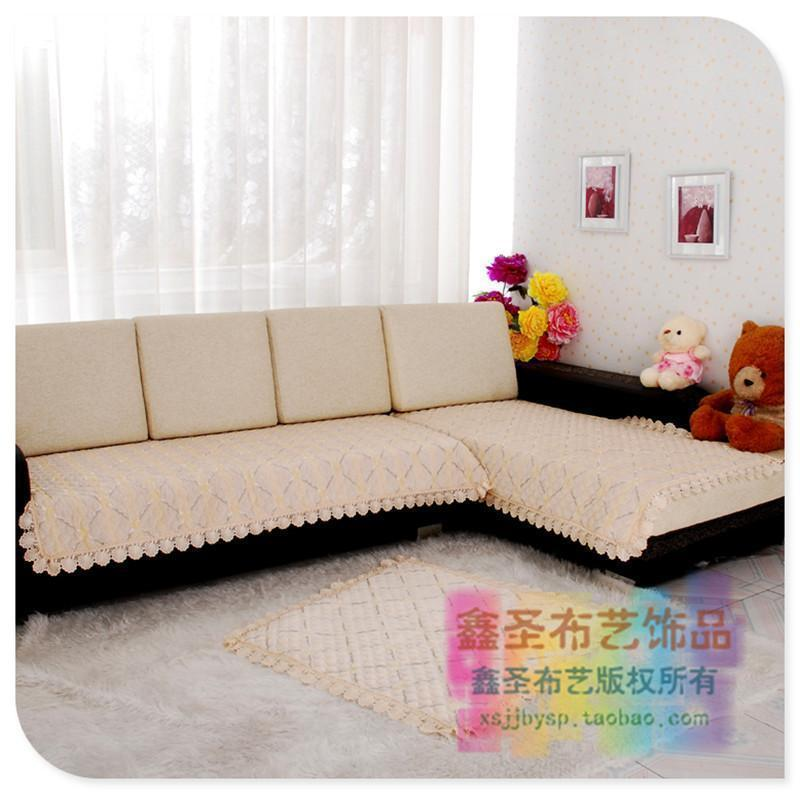 饰品绗绣条纹格子沙发垫沙发巾田园风格欧式风格套装图片