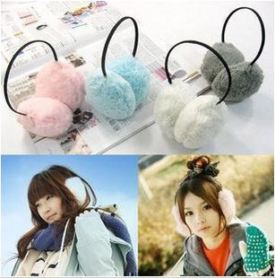 Korea fashion winter rabbit hair super super cute back warm plush ear headset-ear 40g