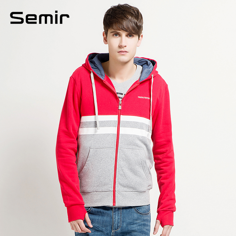 SEMIR new men's fleece jacket in the spring of 2014 men's casual hooded cardigan cotton fleece Taobao Agents