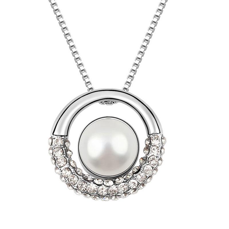 限时促销 珍珠水晶项链 配饰品 短款锁骨链女挂件 情人节礼物包邮
