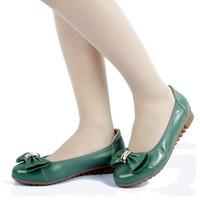 韩版秋季新品简约时尚蝴蝶结坡跟鞋女鞋新款女单鞋舒适单鞋