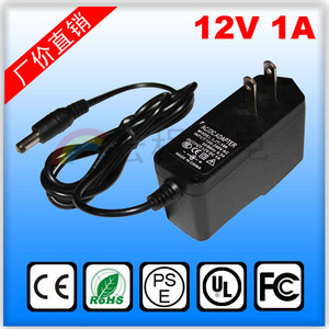 AC 100-240V Converter Adapter DC 12V 1A Power supply charger
