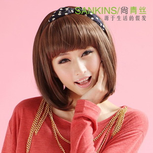 Black hair wigs women hair fluffy BOBO wigs short straight hair female students  female wigs