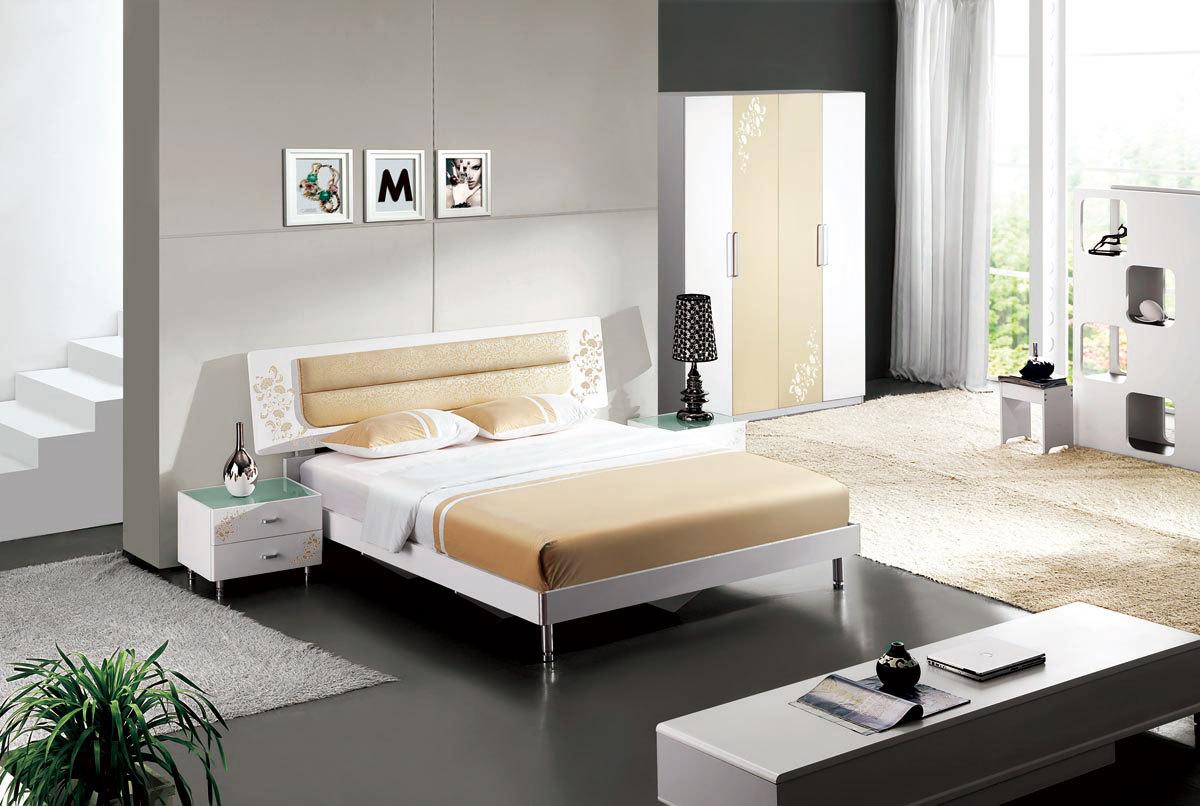 板式特价卧室家具组合套装衣柜床套房时尚简约整套五件套813