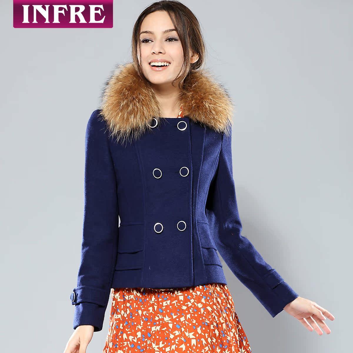 женское пальто Infre C521 Зима 2012 Обычный размер (50 см <длина одежды ≤ 65 см) Infre Длинный рукав Классический рукав