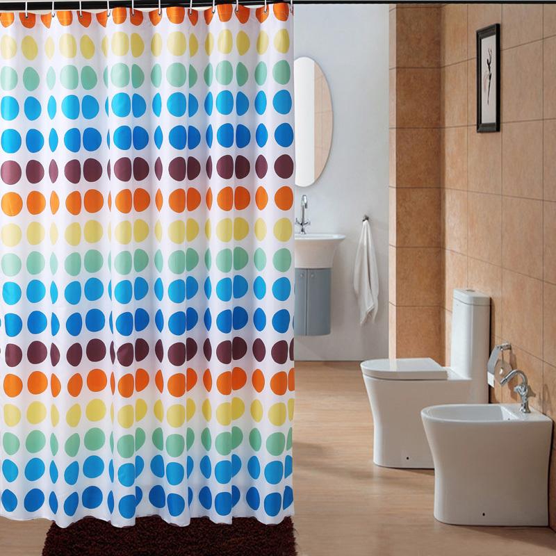 Шторы для ванной Мечта психики новый цвет точка водонепроницаемый мягкой росой полиэстер занавеска, Чжэцзян и Шанхай почта пакет