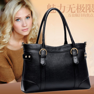 Bags 2014 new European and American fashion trend leather handbags diagonal portable shoulder bag ladies leather bag mail