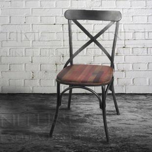 美式乡村loft时尚现代工业风餐椅 靠背椅子出口装饰家具图片