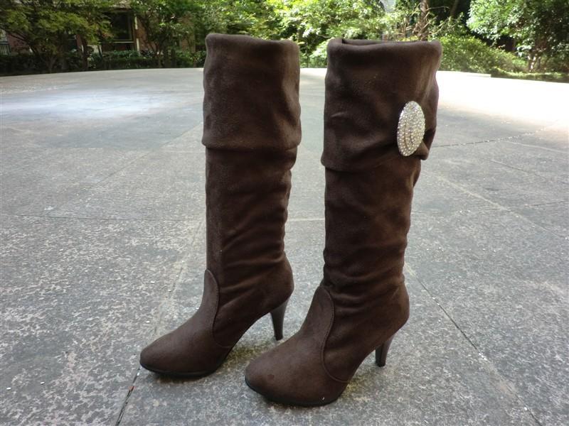Тонкий каблук Без шнуровки На высоком каблуке (6- 8 см) Клееная обувь Однотонный цвет