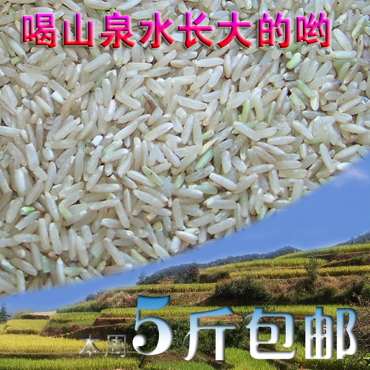 brown rice 500G nutrition rice Green Health coarse grain farmers from the original ecological no 5 Jack package mail