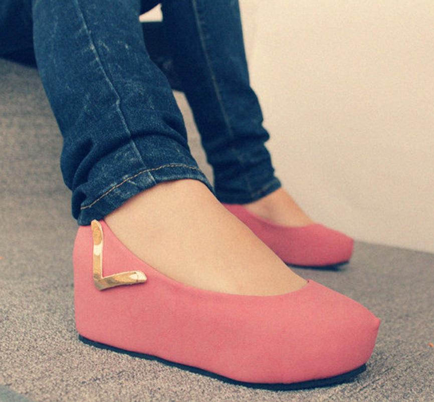 туфли Women's Shoes 2012 Танкетка Нубук (шершавая кожа) Искусственная кожа