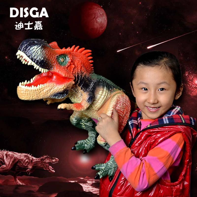 恐龙 模型/包邮孩子迪士嘉恐龙模型玩具超大霸王龙/暴龙 异特龙模型