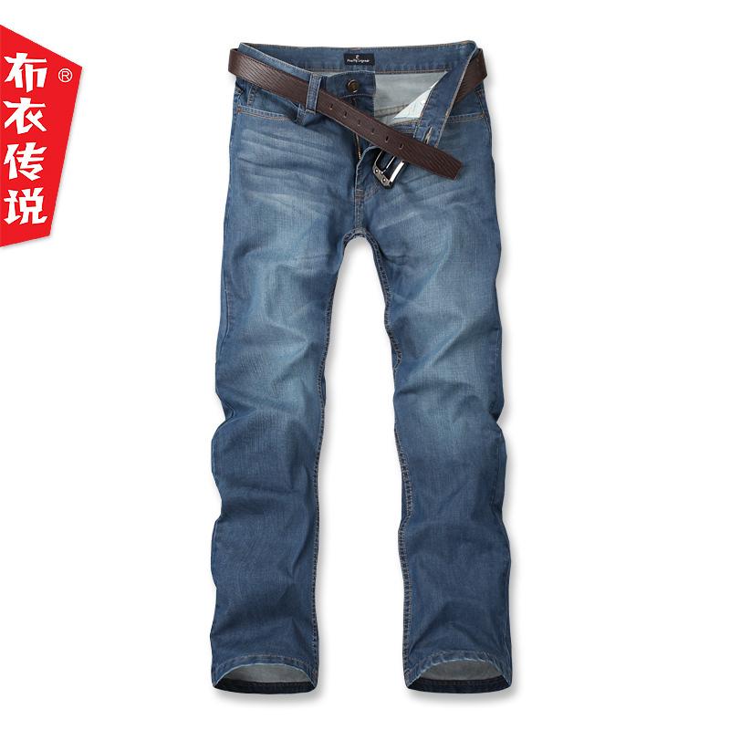 Джинсы мужские Pouilly Legende nnk954 Прямые брюки Классическая джинсовая ткань Модная одежда для отдыха 2012