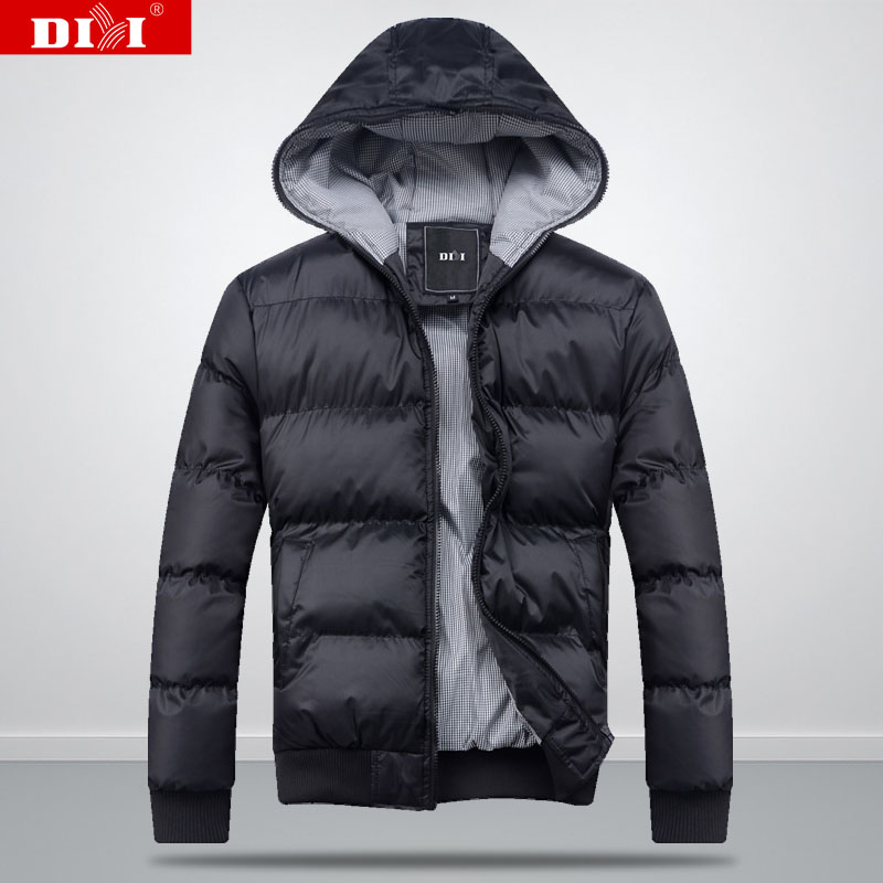 Autumn/winter 2012 new style men's padded coat thick Korean leisure hooded coat solid color short men's slim fit jacket