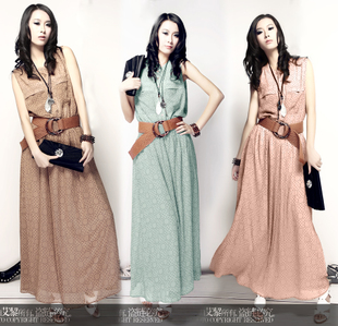 2012 New Elegant Bohemia long dress