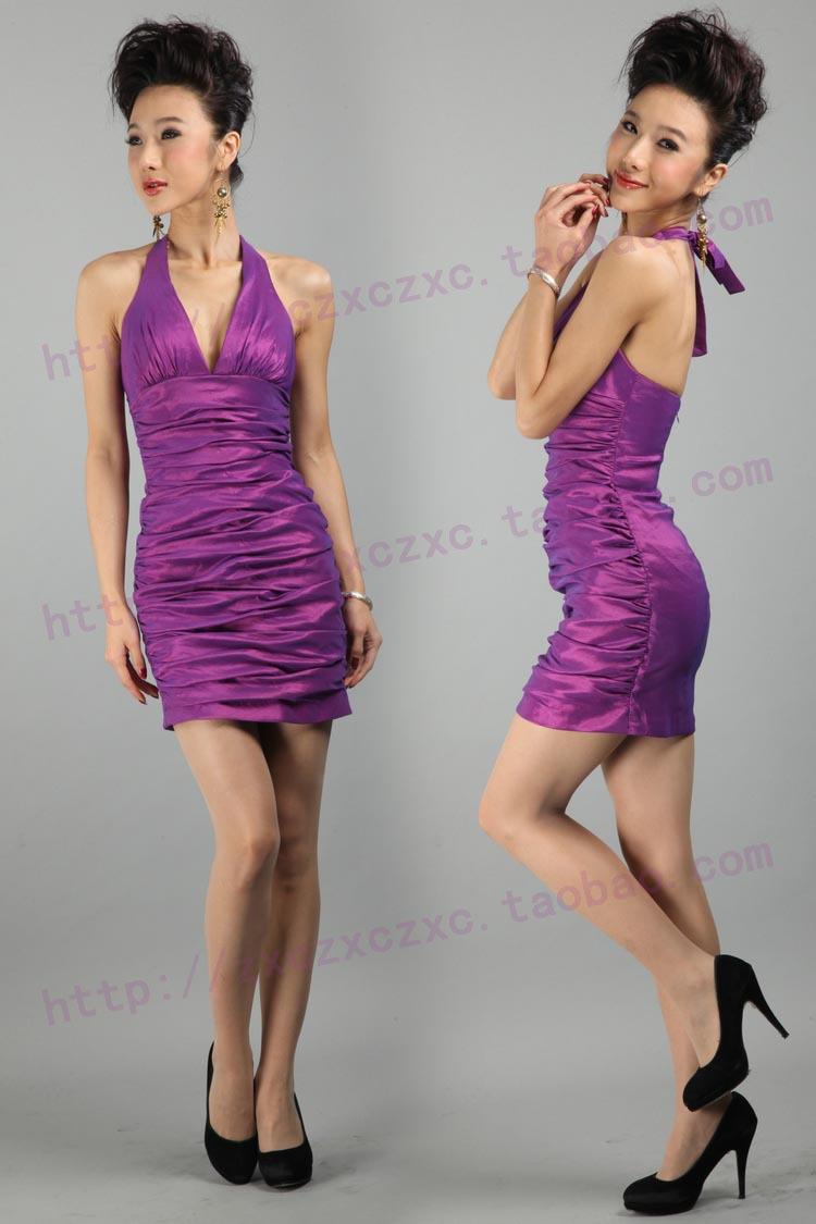 Вечернее платье 2012 короткое вечернее платье сексуальный платье звезда Banquet вечернее платье для новобрачных платья