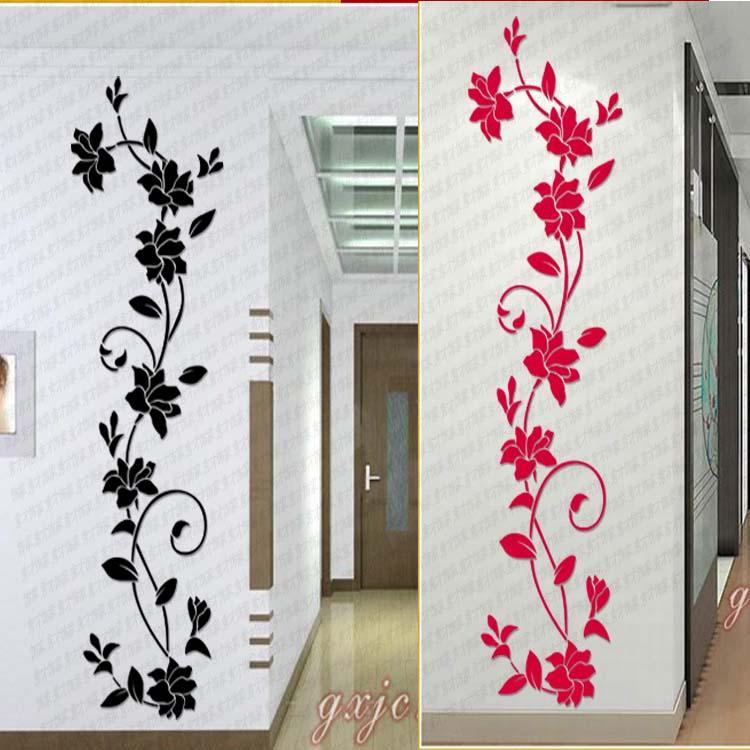 Объемные наклейки на стену цветы 36