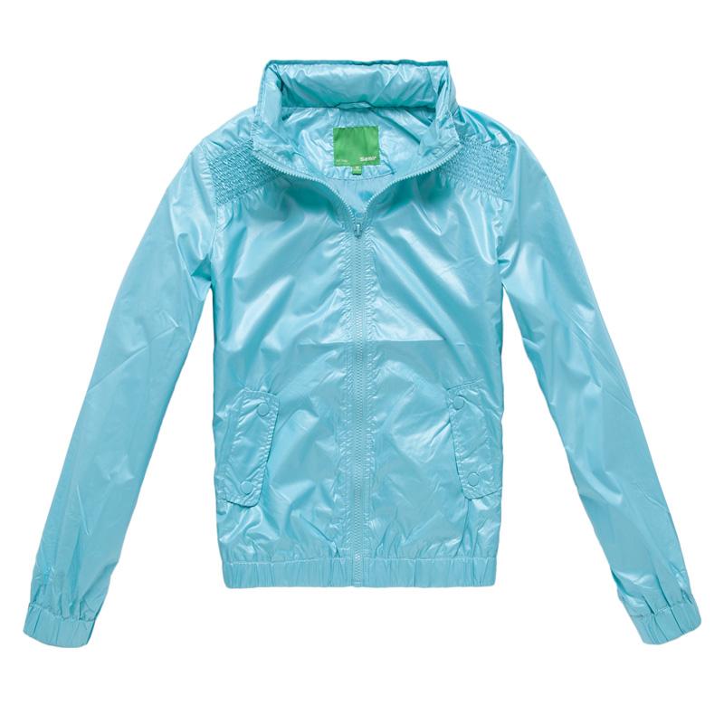 semir 森马 秋装新款女装夹克纯色短款立领长袖夹克11082312001图片