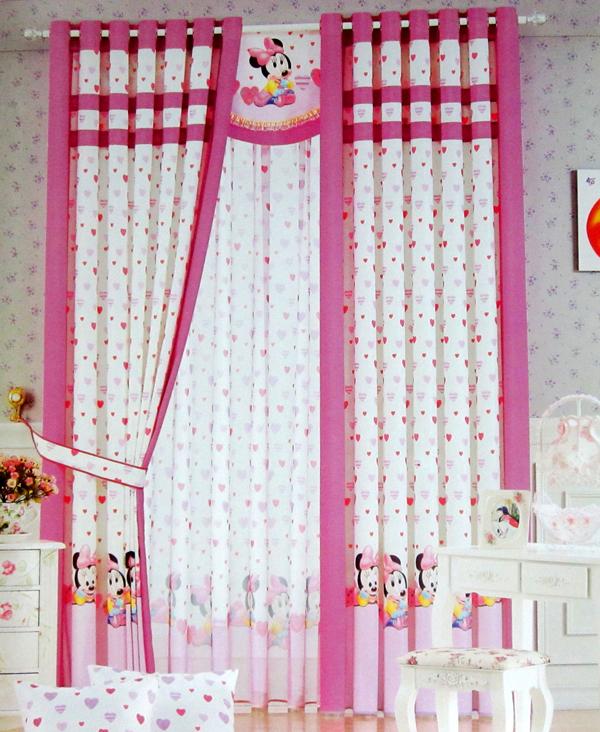 rideau fille pas cher trendy des rideaux chambre fille aux motifs de feuilles oiseaux et pommes. Black Bedroom Furniture Sets. Home Design Ideas