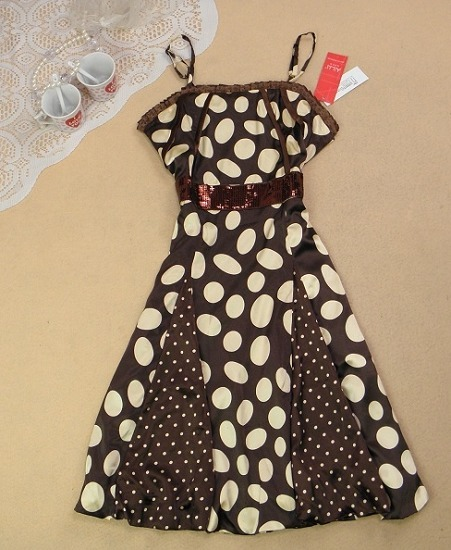 Женское платье «Красный двойной короны почта * холодный * не пакет Аукционы Магазин «бренд Ханчжоу точка ремень платье