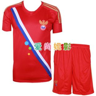12-13 Russia national team football to take  game to take home short sleeve soccer sports children's ball clothing