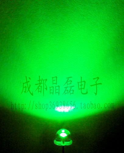 Диод «100» 5 мм соломенной шляпе зеленый свет зеленый супер яркий светодиод загорается