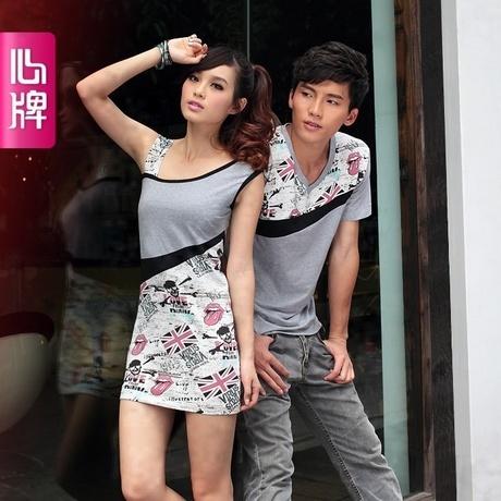 Женское платье Любителей летнего короткие t дамы череп 2012 Новый корейский поддельные двухсекционный рубашка